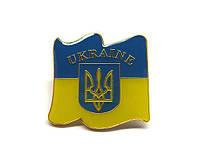 Патриотический значок флаг и герб Украины