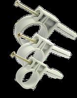 Обойма для гофро труб и кабеля  10-12 мм  c ударным шурупом