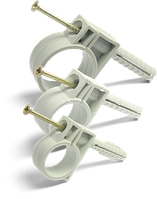 Обойма для гофро труб и кабеля  15-16 мм  c ударным шурупом
