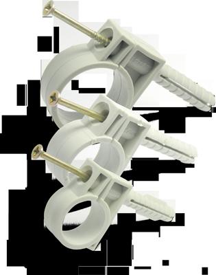 """Обойма для гофро труб и кабеля  20-22 мм  c ударным шурупом - ТОВ """"ЕЛЕКТРОФОРС"""" в Житомире"""