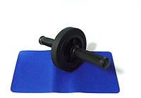 Ролик для пресса утяжеленный D-145mm + коврик, фото 1