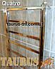 Полотенцесушитель для большой ванной комнаты Quatro 15/1550х450. Плоский дизайн. Квадратные формы, фото 3