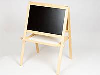 Напольный мольберт деревянный двухсторонний с магнитной доской. (Арт. М-02)