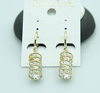 Эксклюзивные женские серьги с камнями. Престижная бижутерия оптом от RRR. 2223