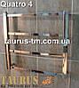 Маленький водяной, элеткро или гибридный полотенцесушитель для ванной комнаты Quatro 4/ 450х400., фото 3