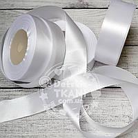 Лента сатиновая белая шириной 30 мм