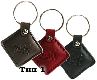 Домофонный ключ в виде кожаного брелка VIZIT-RF2.2.
