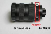 Адаптер перехідник C Mount - CS Mount C/CS