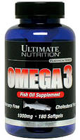 Omega 3 1000 мг Ultimate Nutrition, 180 капсул