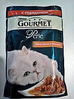 Gourmet Perle (Гурме перл) мини-филе с говядиной - влажный корм для кошек