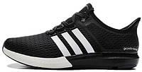 Женские кроссовки  Adidas CC Gazelle Boost Black White (адидас газель буст) черные
