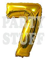 Фольгированные шары цифры 7 Золото, 80 см