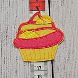 """Вышивка аппликация клеевая """"Маленький десерт с апельсином"""", высотой 6 см, фото 3"""