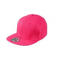 Малиновая кепка с прямым козырьком (Snapback)