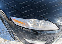 Реснички Ford Mondeo Mk4 (накладки на передние фары Форд Мондео 4), фото 1