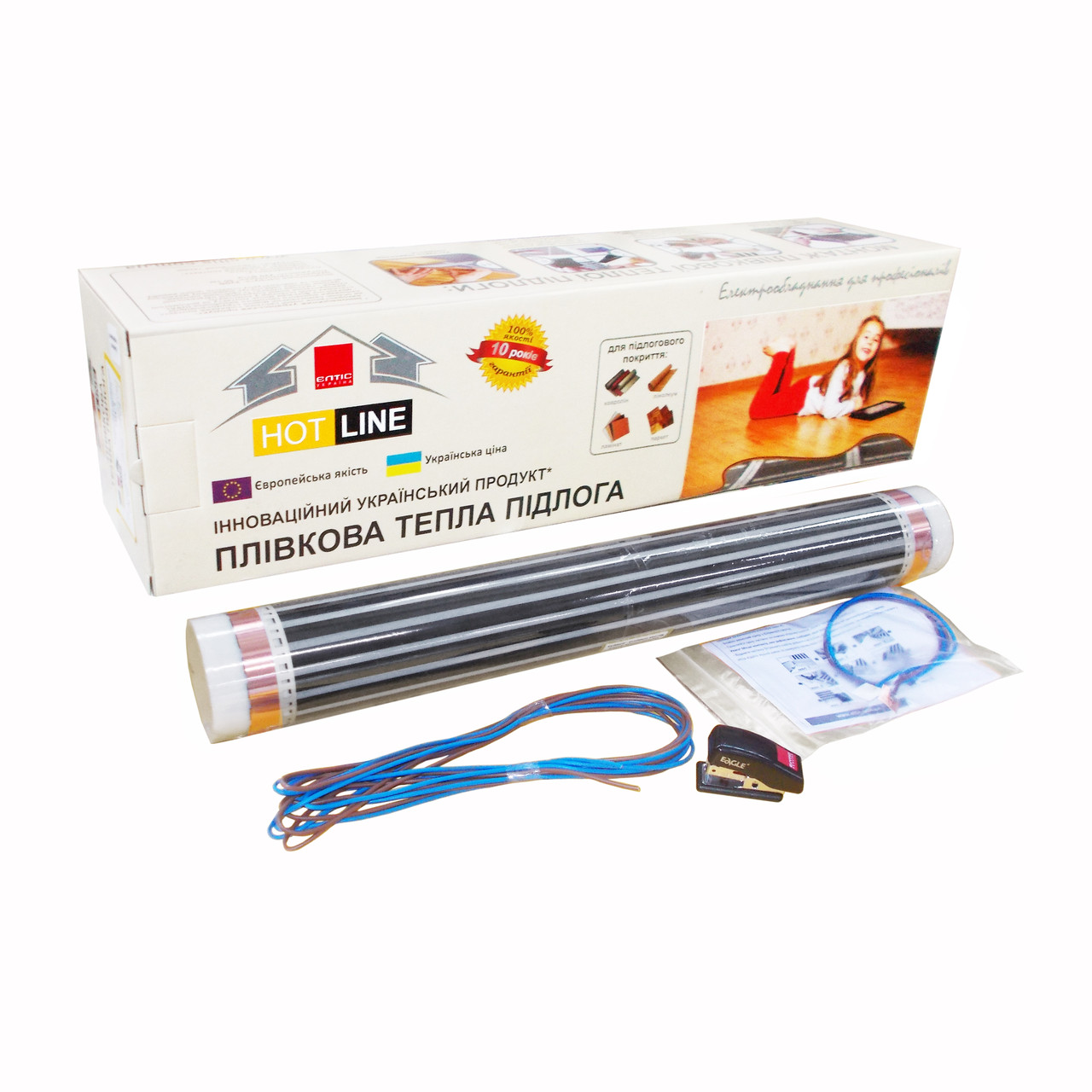 Пленочный пол HOT LINE ПП-15 (0,5х30м) Элтис Украина
