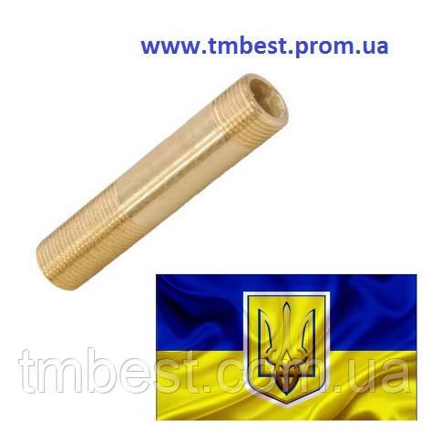"""Сгон 1"""" латунный L - 100, фото 2"""