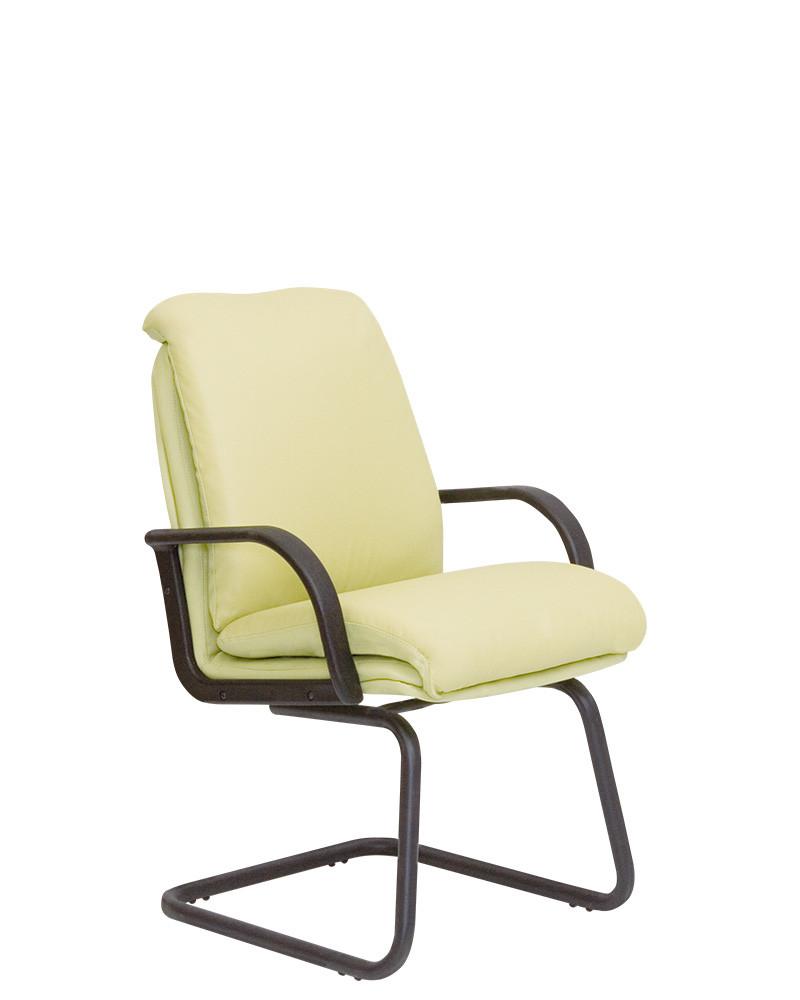 Кресло офисное Nadir CF LB каркас black экокожа Eco-45 Зеленая (Новый Стиль ТМ)