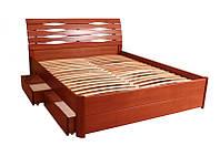 """Кровать """"Мария Люкс"""" с 4 ящиками 1,6 м, фото 1"""