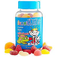 Дитячі гіпоалергенні мультивітаміни з мінералами Gummi King,60 жувальних таблеток у вигляді ведмедиків