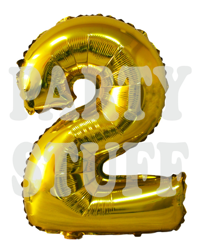 золотая цифра 2 фольга
