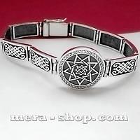Звезда Руси браслет из серебра со славянским оберегом