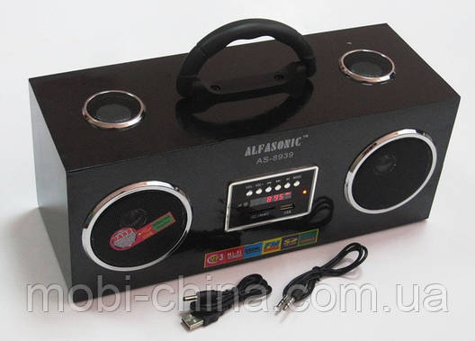 Акустическая колонка  Alfasonik AS-8939, MP3/SD/USB/FM/, black, фото 2