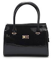 Черная лаковая женская сумка Zgarda Украина art. 05-15, фото 1