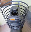 Малая банная печь с круглой сеткой с выносной топкой ПК-18УК, фото 3