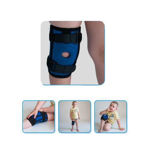 Пов'язку на колінний суглоб дитячий Алком 4035к з ребрами жорсткості