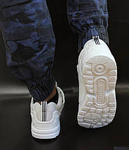 Мужские кроссовки Adidas Flux белые реплика 43р, фото 3