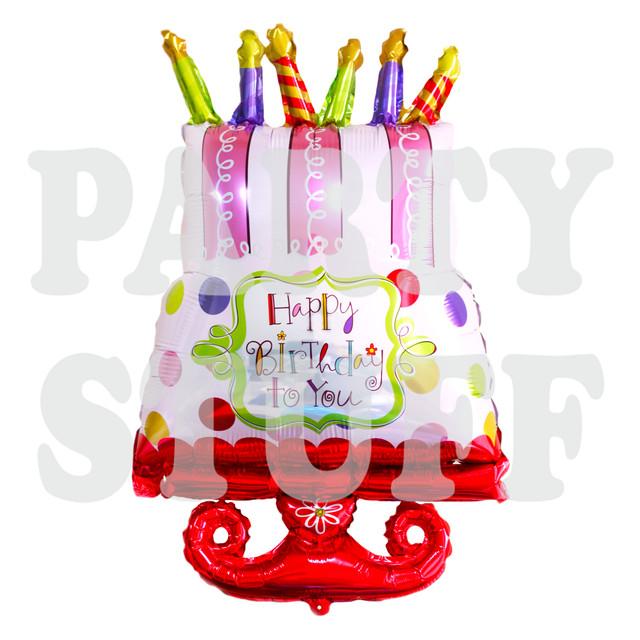 Торт со свечами красный фольгированный