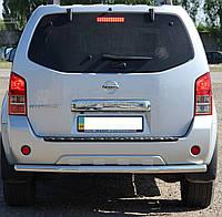 Защита заднего бампера на Nissan Murano (c 2008--)