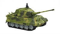 Танк на радиоуправлении микро 1:72 King Tiger со звуком зеленый 27MHz (танки на пульте управления)