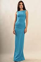 Вечернее платье в пол Венеция цвета: графит   чёрный / коралл / голубой / фиолет