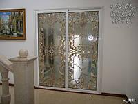 Витражи Тиффани в стеклянные раздвижные двери
