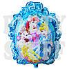 Фольгированный фигурный шар Принцессы Дисней голубой, 70 см