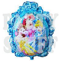 Фольгированный фигурный шар Принцессы Дисней голубой