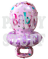Фольгированный шар фигура Соска розовый