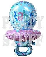 Шар фольга для новорожденного Соска голубой