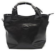 Стильная кожаная черная женская сумка SOLANA art. 50033, фото 1