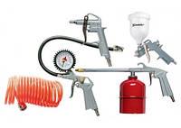 Набор пневмоинструмента, 5 предметов, быстросъемное соединение, краскораспульт с верхним бачком MTX (573049)
