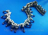 Крепеж (скоба) кабельный круглый  d 5 mm белый  с каленым гвоздем