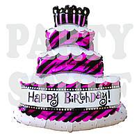 Фольгированный шар Розовый торт, 65 см