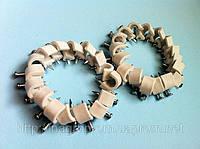 Крепеж (скоба) кабельный круглый  d 8 mm белый  с каленым гвоздем