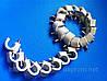 Крепеж (скоба) кабельный круглый  d 9 mm белый  с каленым гвоздем
