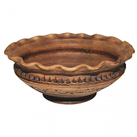 Миска-Волна Шляхтянская 2,8л глиняная ручная работа
