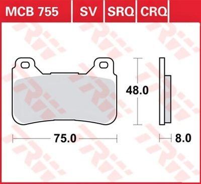 Тормозные колодки для мотоцикла HONDA CBR600RR , CBR1000RR Fireblade , TRW-LUCAS передние MCB755SV