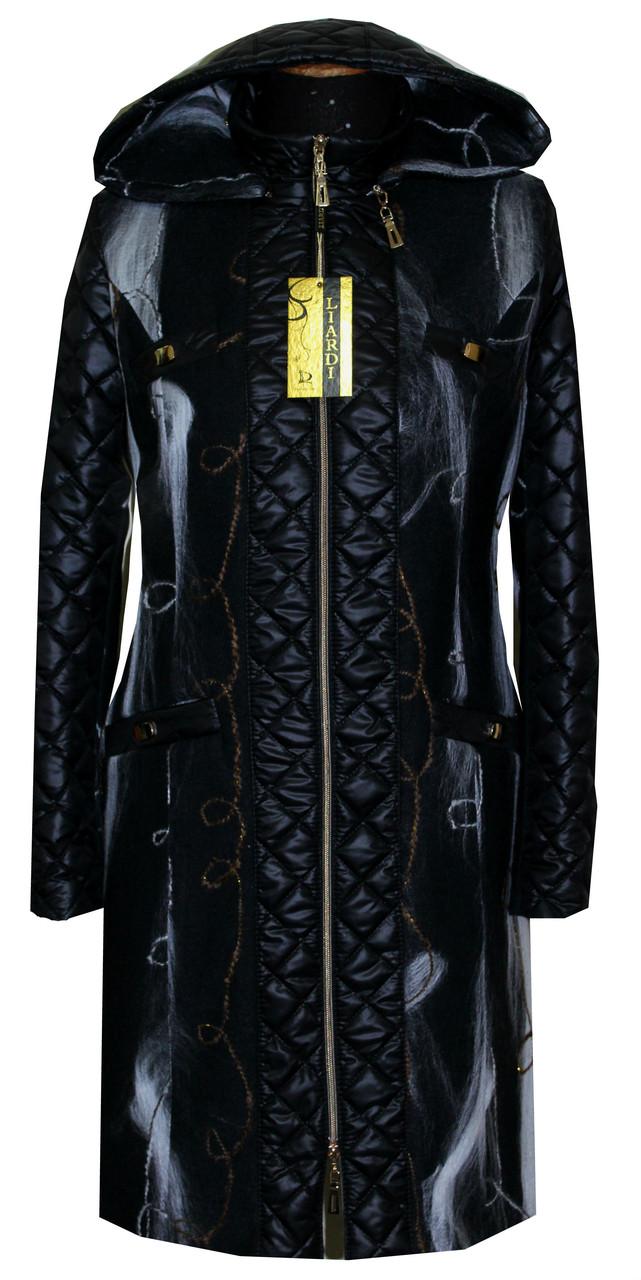 Молодіжне пальто з оздобленням