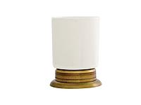 Стакан для зубных щеток KUGU Versace Freestand 250A (латунь, бронза, керамика)(Бесплатная доставка Новой почтой)